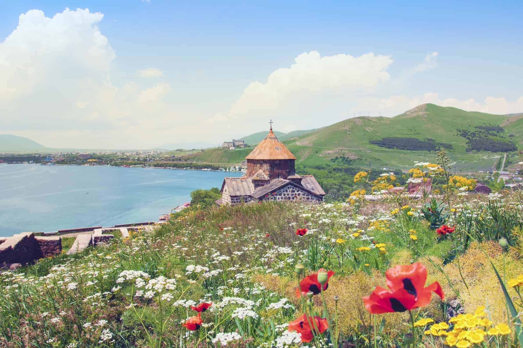 Lake Sevan i Armenien