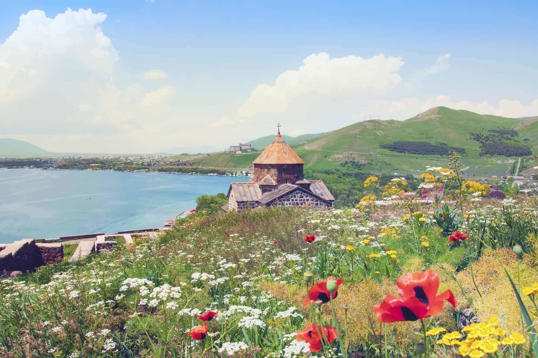Lake Sevan i Armenien