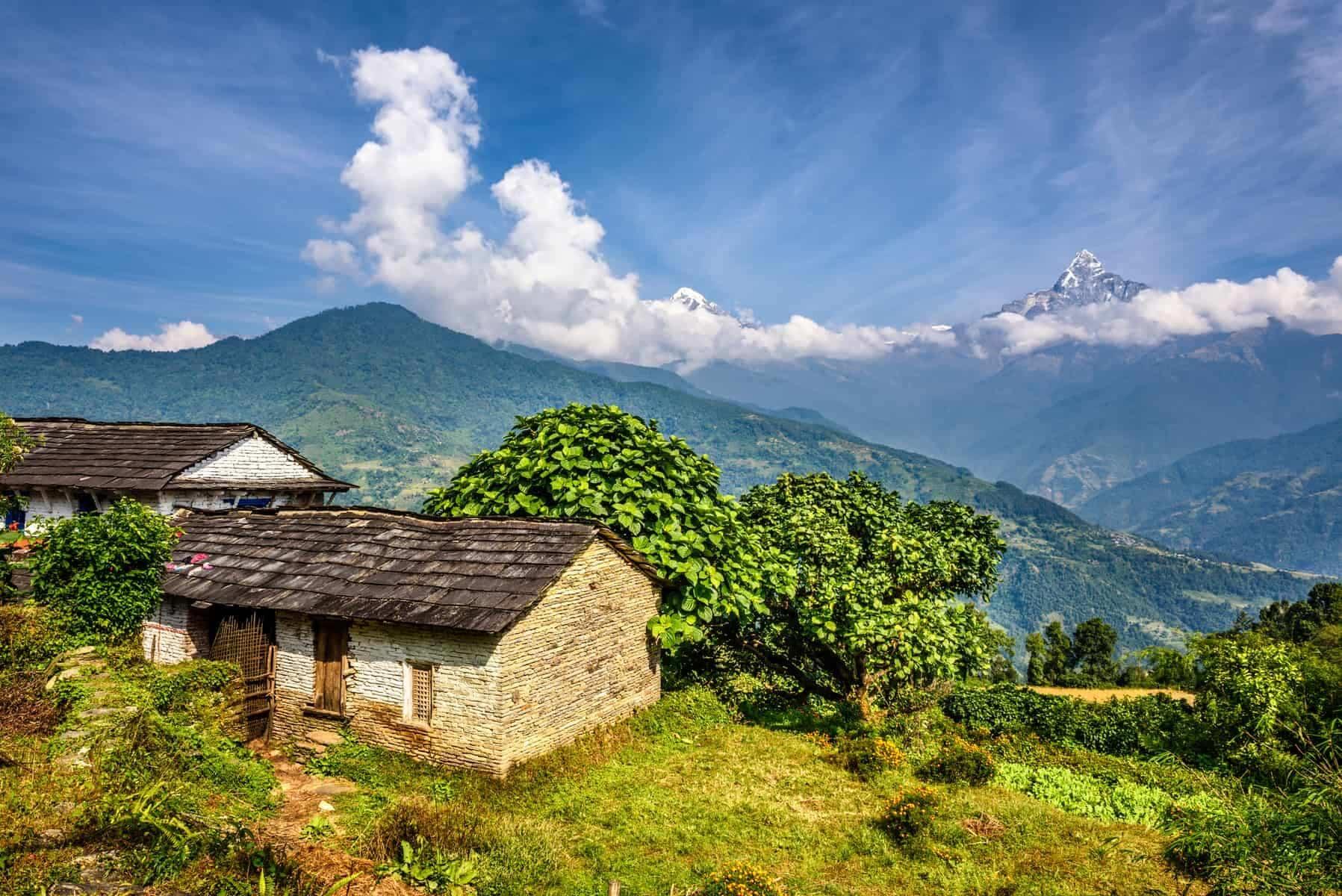 Himalaya village Nepal