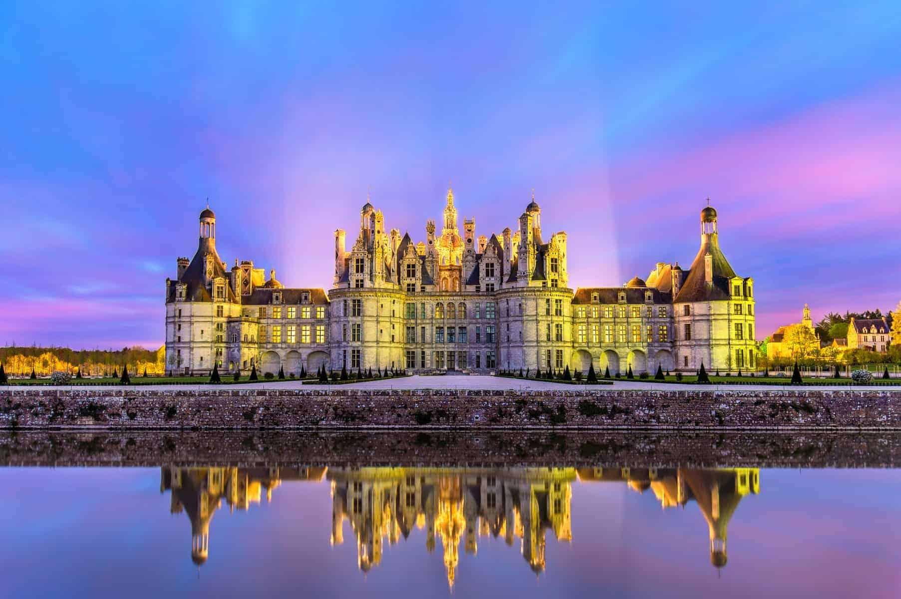 Chateau de Chambord, the largest castle in the Loire Valley - France