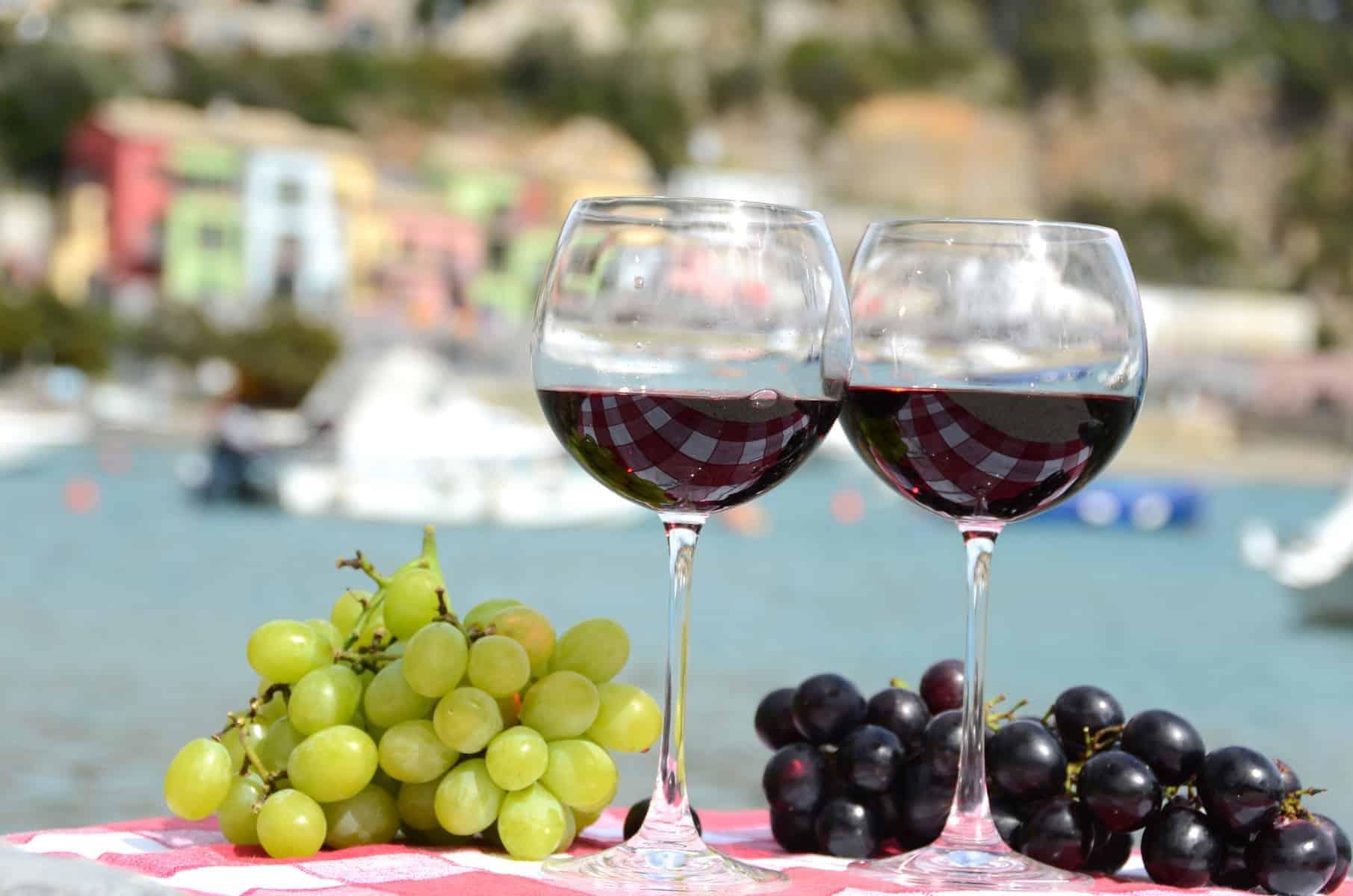 Lækker vin i Portvenere, Liguria Italien