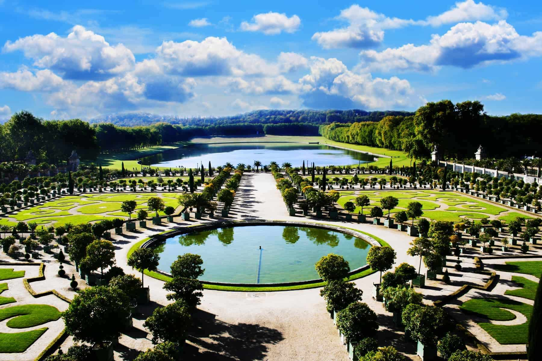 Versailles, royal garden i Paris