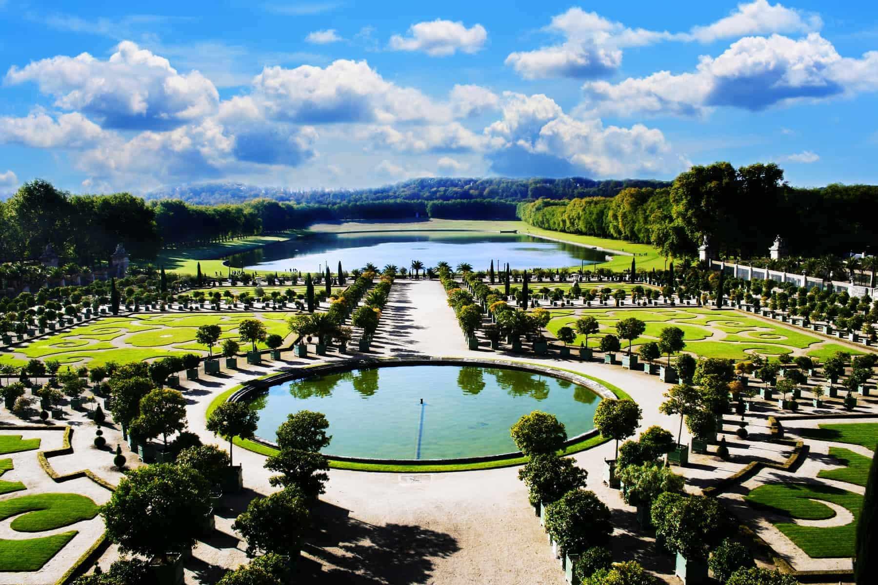 Versailles, royal garden i Paris