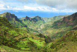 Serra Malagueta mountains in Santiago Island Cape Verde - Cabo V