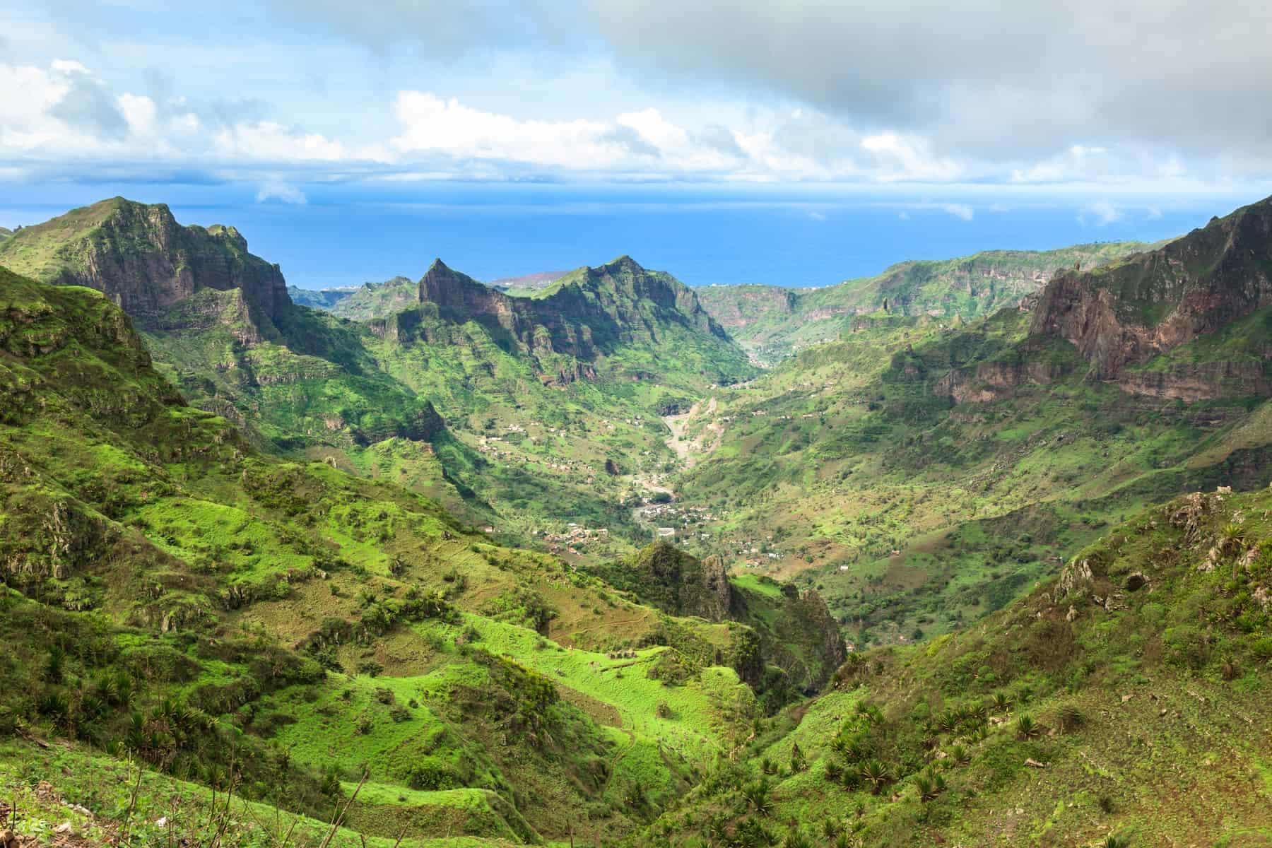 Drømmerejsen. Kap Verde. Serra Malagueta mountains in Santiago Island