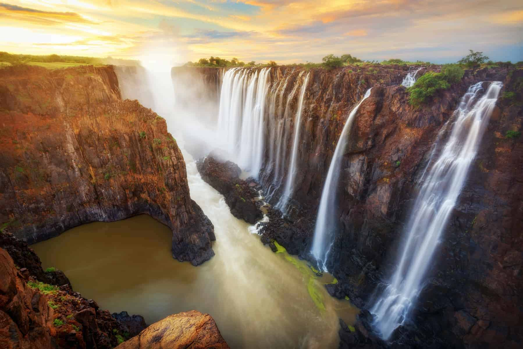 Victoria Falls in Zambia and Zimbabwe taken in 2015