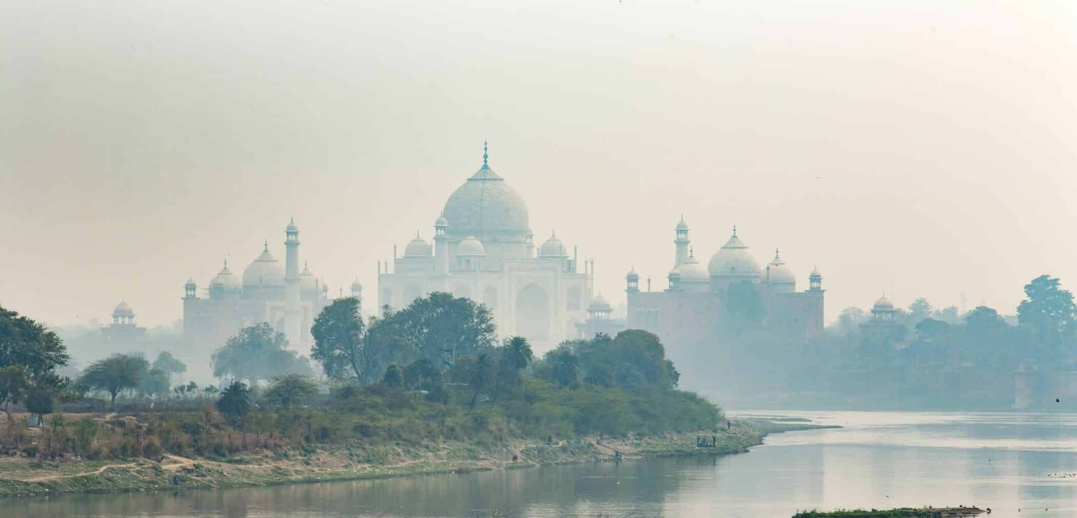 Agra, Taj Mahal, Landmark, architecture, INDIA, indian, river, february, Architectural, building,