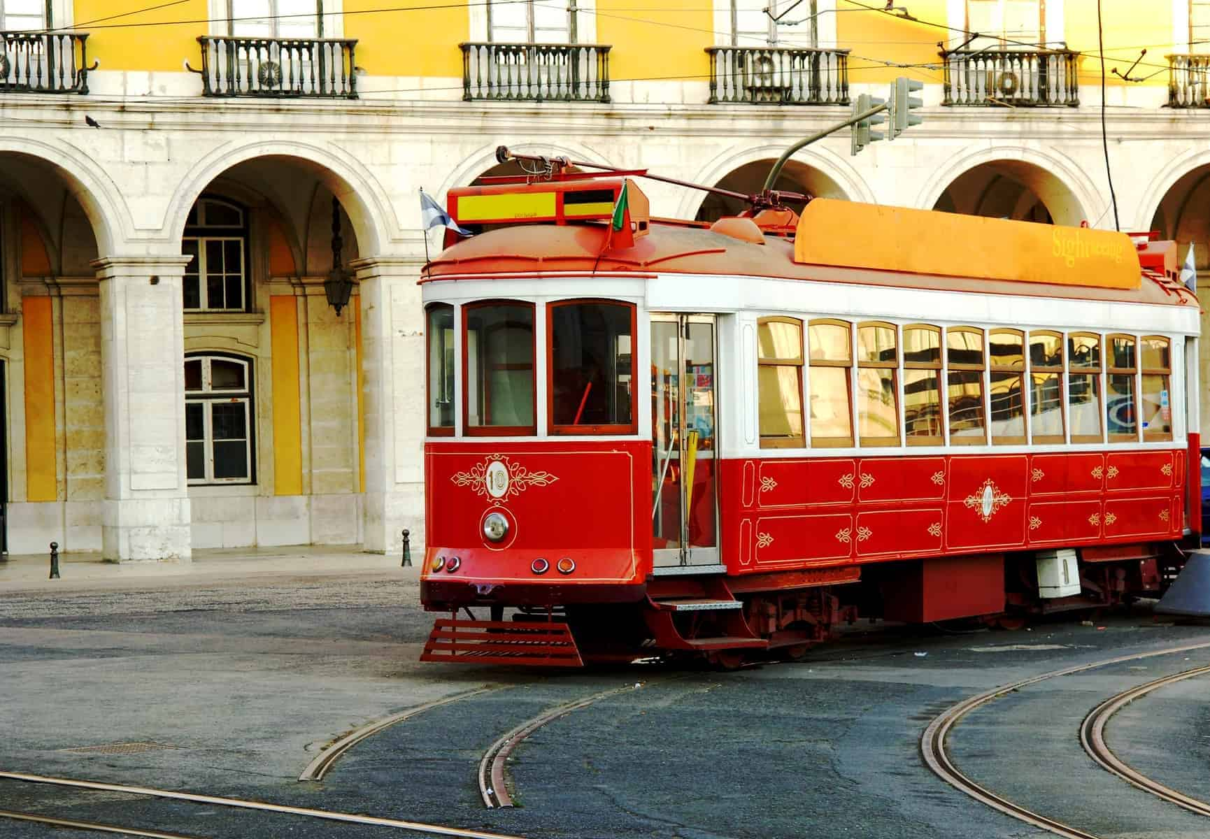 Portugal Lisbon historic part of town, tramway
