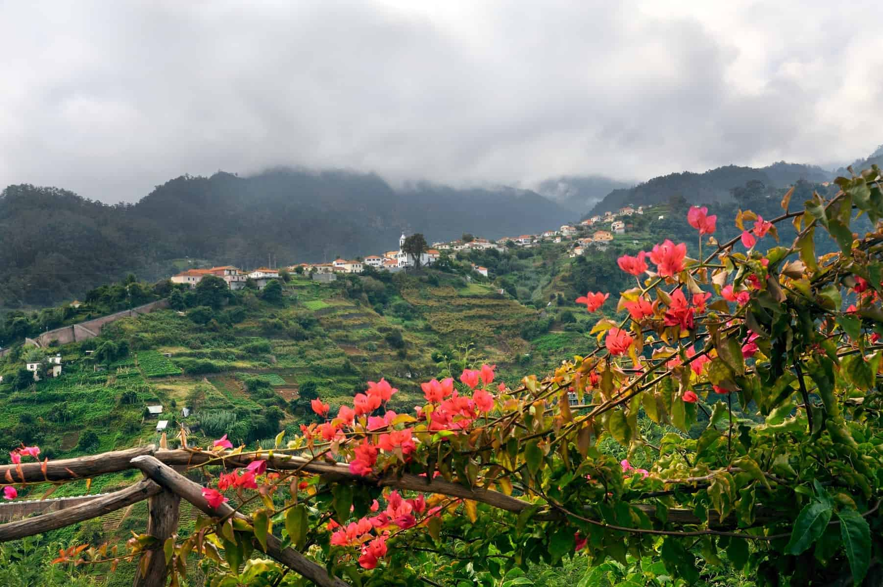 Village on the north coast of Madeira island, Portugal