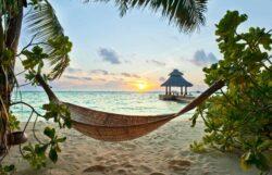 Maldiverne solnedgang