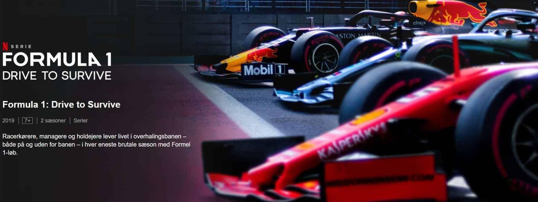 Formula 1 Drive to survive, Netflix