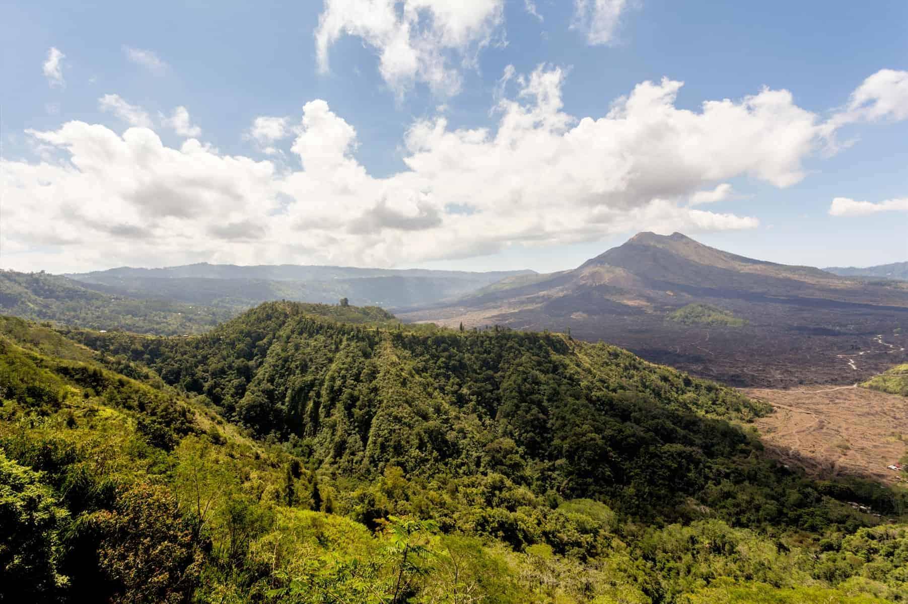 Volcano Mount Sinabung at North Sumatera