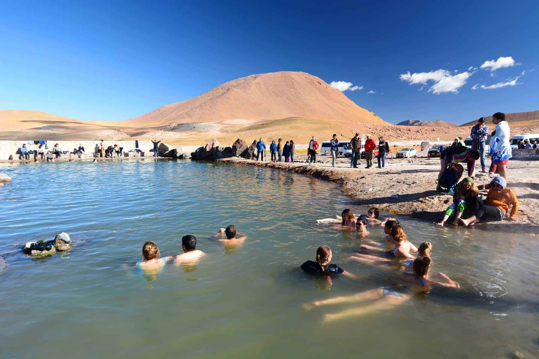 El Tatio is a geyser field located within the Andes Mountains of northern Chile at 4,320 meters above mean sea level