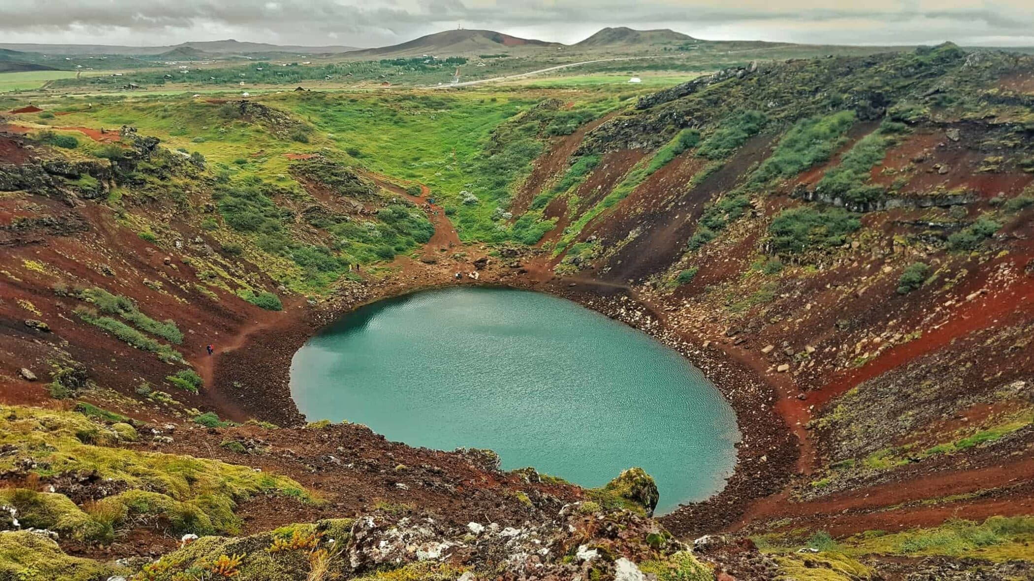 Kerio Volcano, the 3000 years old famous volcano in Iceland.