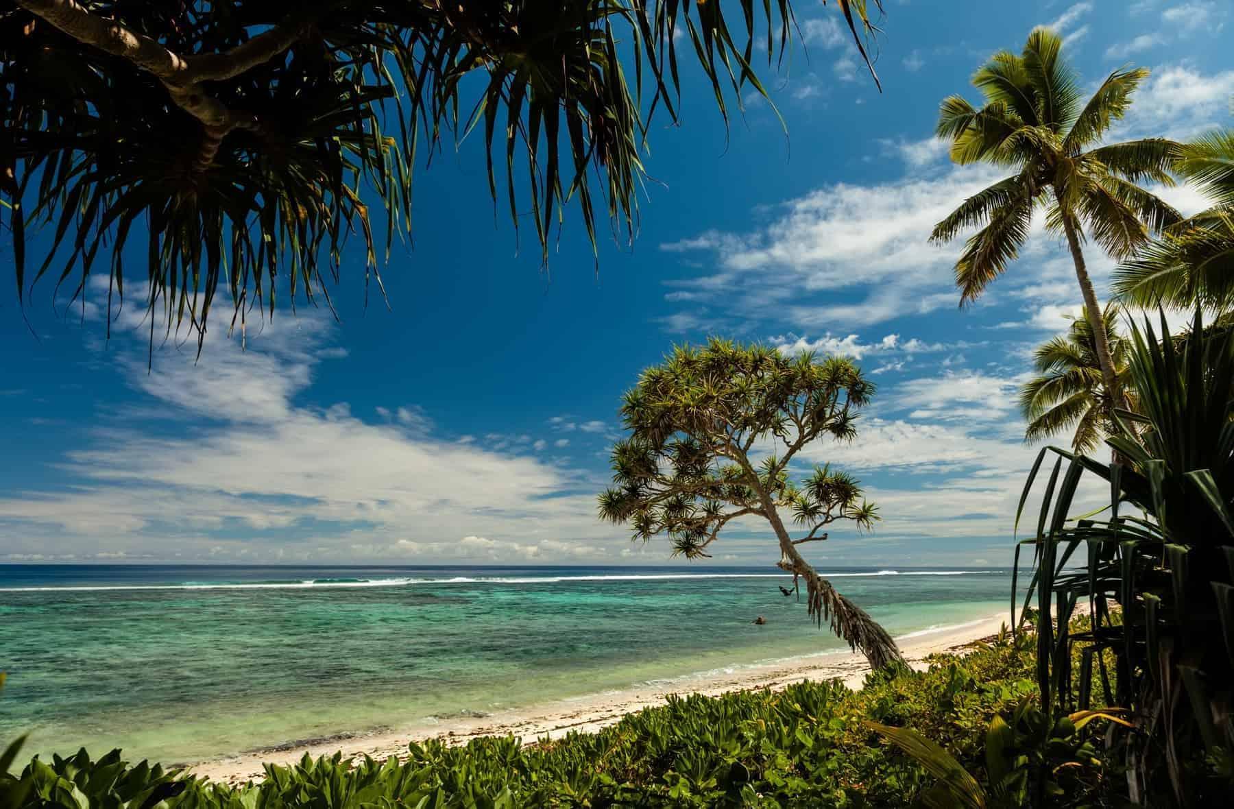 Rejsemål i Stillehavet Tonga en stor øgruppe og skønhed