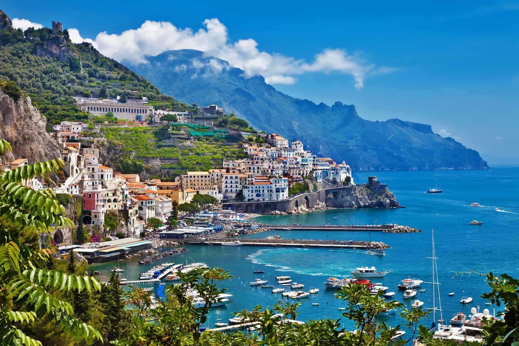 Amalfi kysten i Italien
