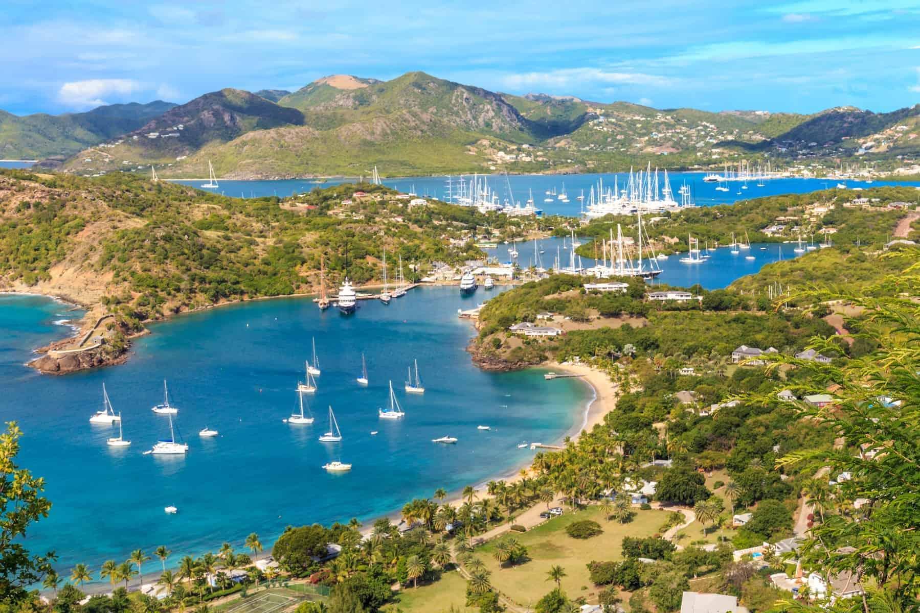 Antigua Bay, Falmouth Bay, den engelske havn, Antigua