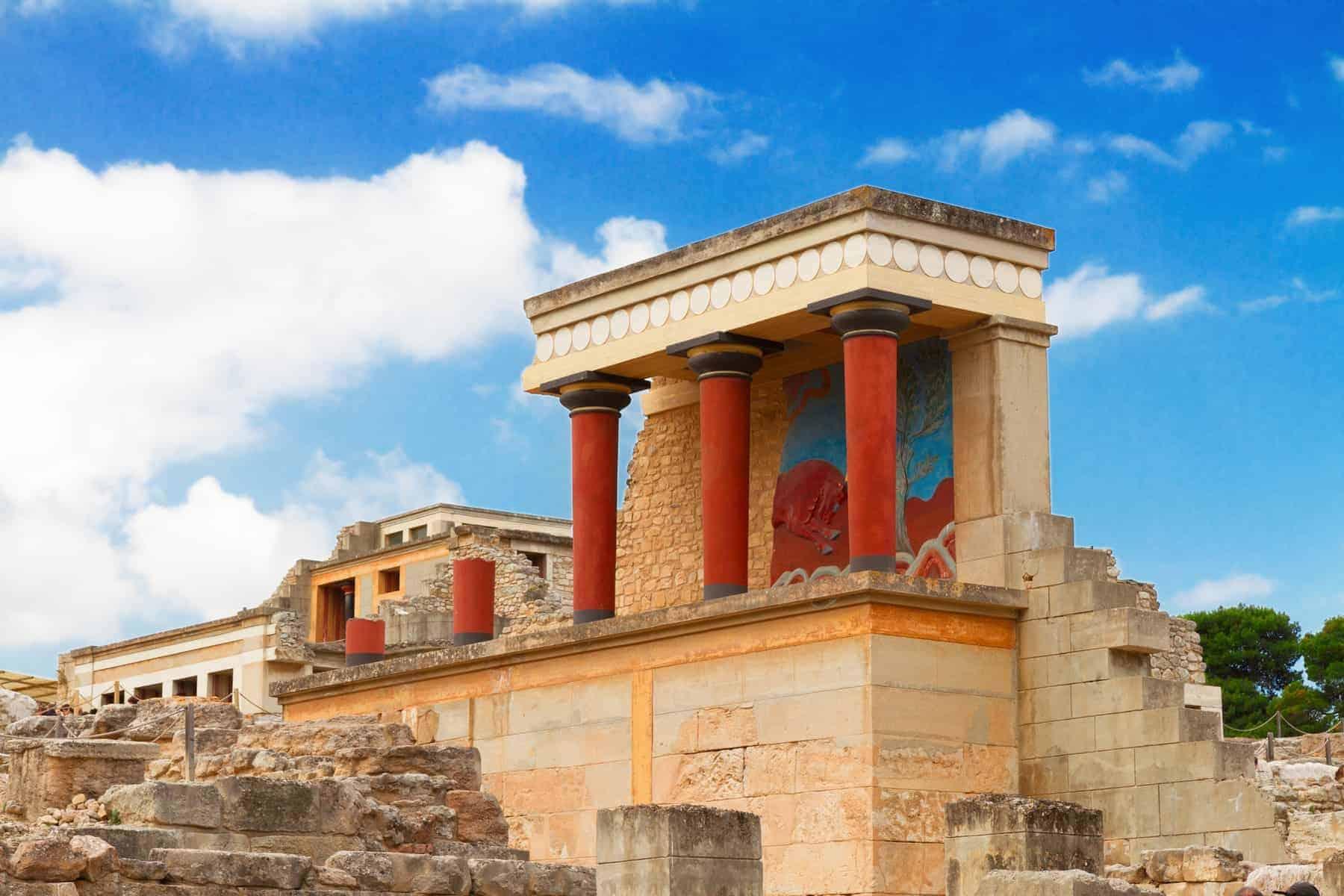 Knossos, det verdensberømte palads på Kreta