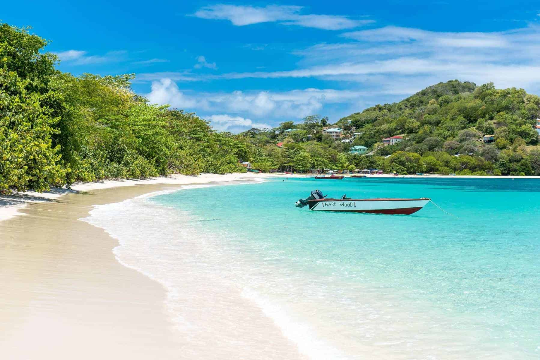 Carriacou underskøn strand