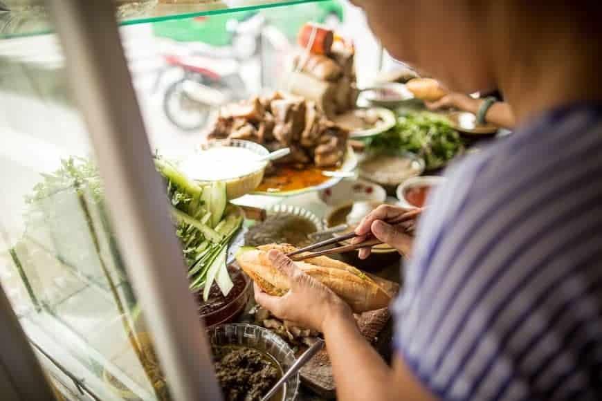 Central Vietnam´s saucer og fisk og krydrede mad
