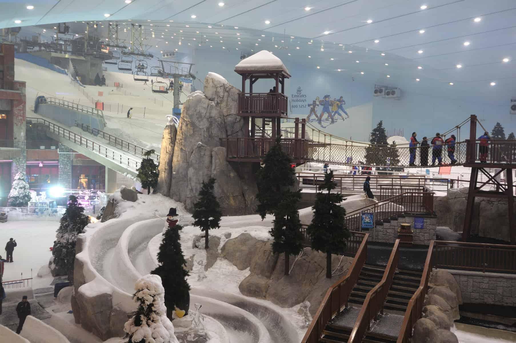 Ski Dubai in Mall of the Emirates, Dubai United Arab Emirates