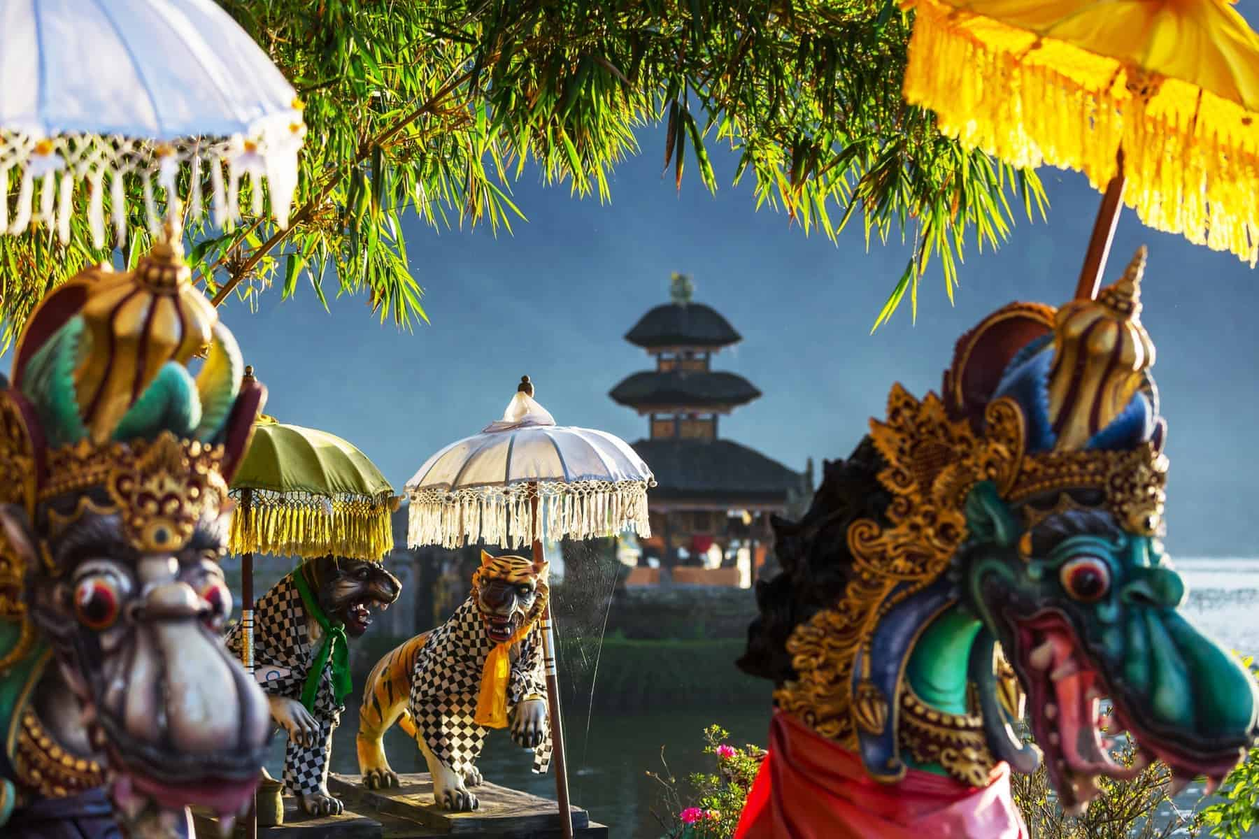 Pura Ulun Danu tempel, Bali, Indonesien