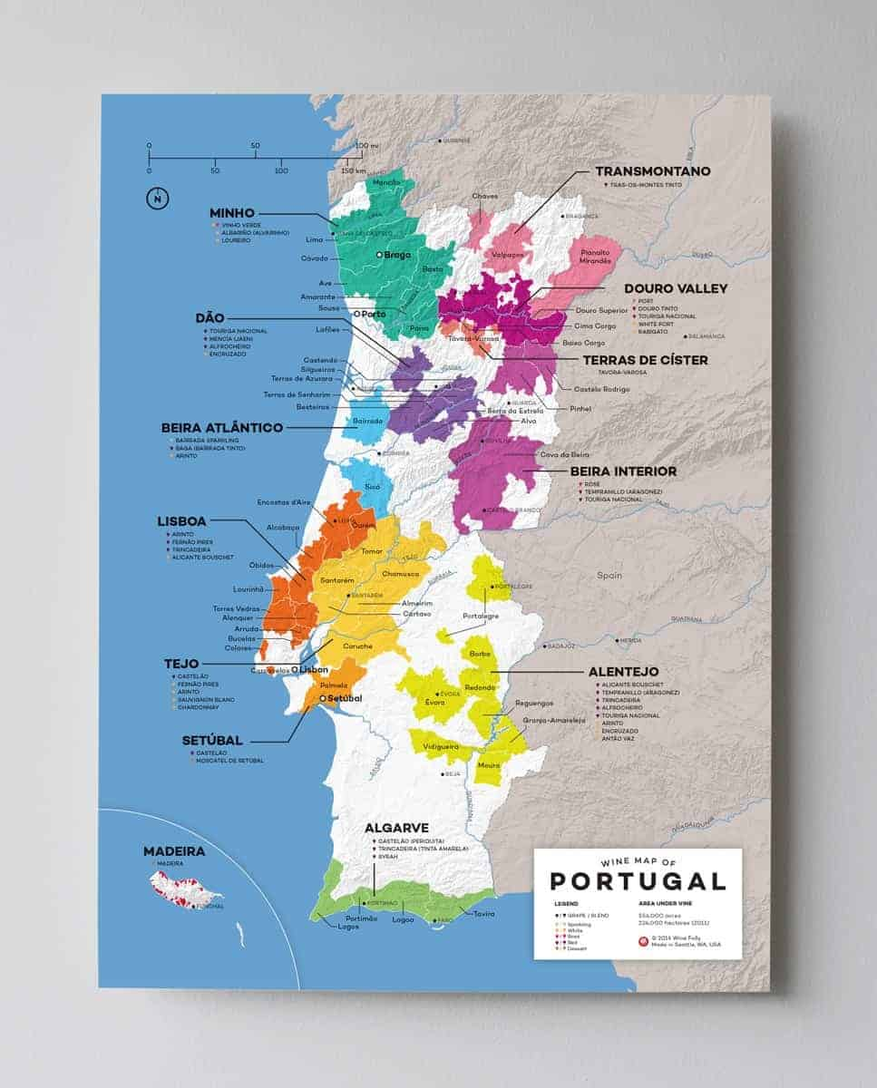 Wines of portugal map