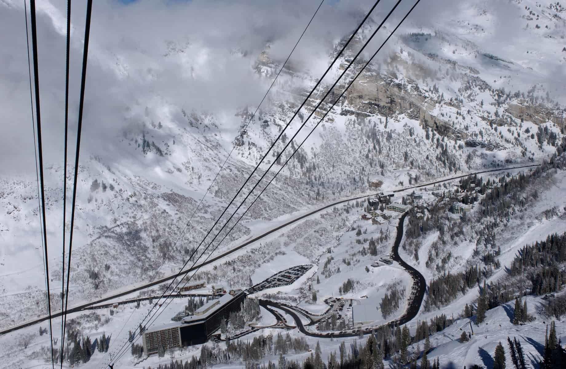 Mountains from Snowbird ski resort in Utah