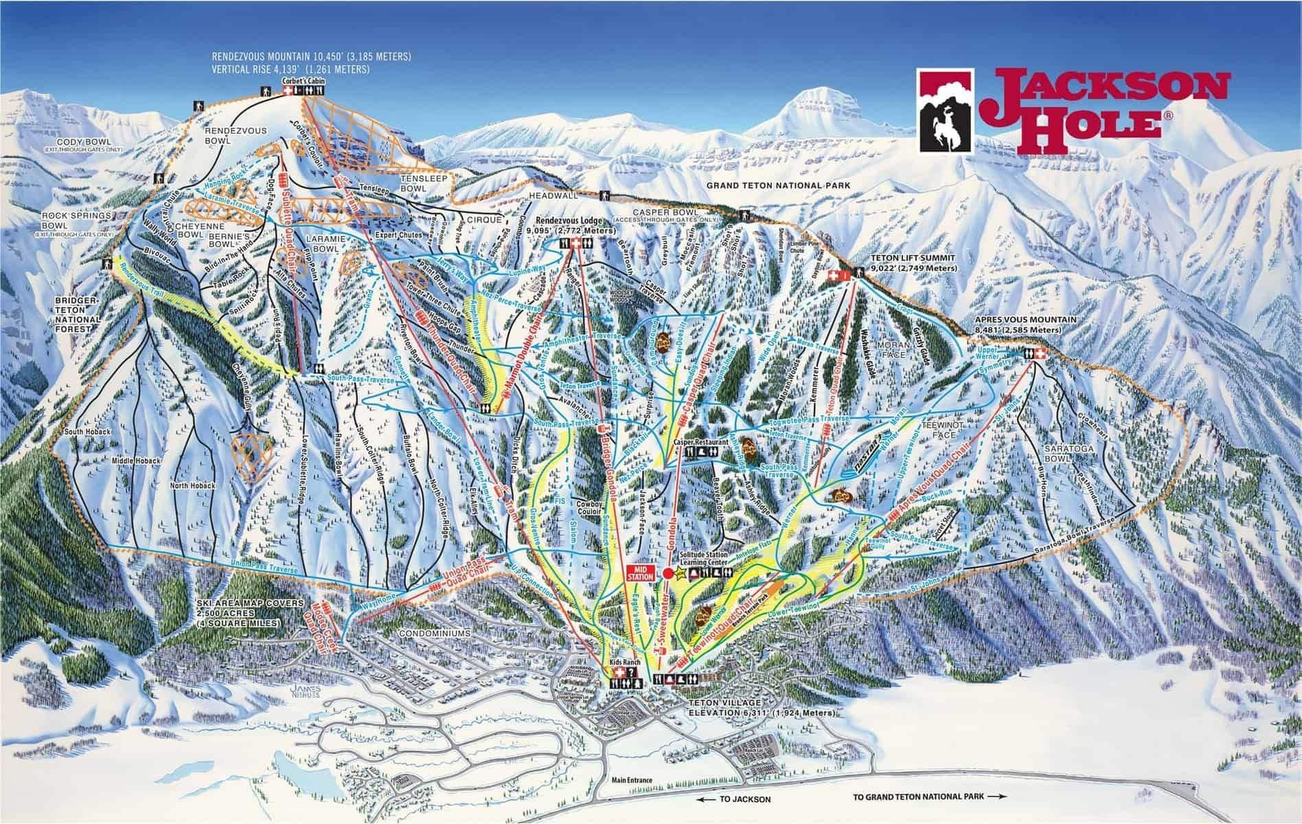 Jackson Hole, piste map