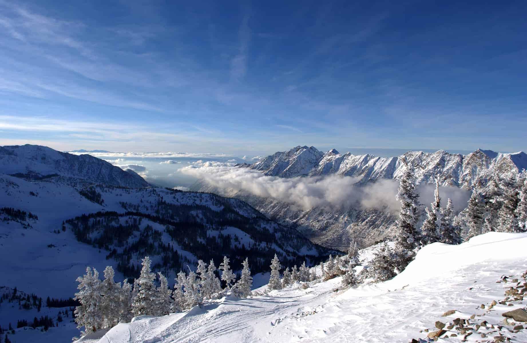 the Mountains from Snowbird ski resort in Utah, USA