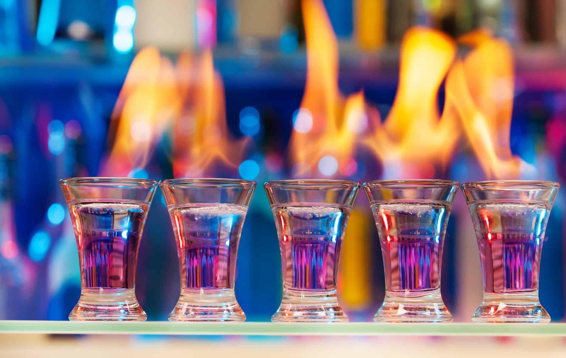 Sambuca med ild i, lad os få brændt den alkohol væk :)