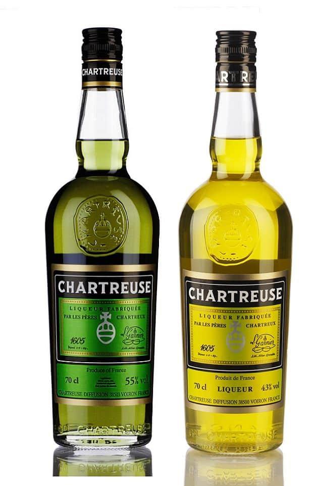 likor-chartreuse-verte-chartreuse-jaune, grønne og gule udgaver