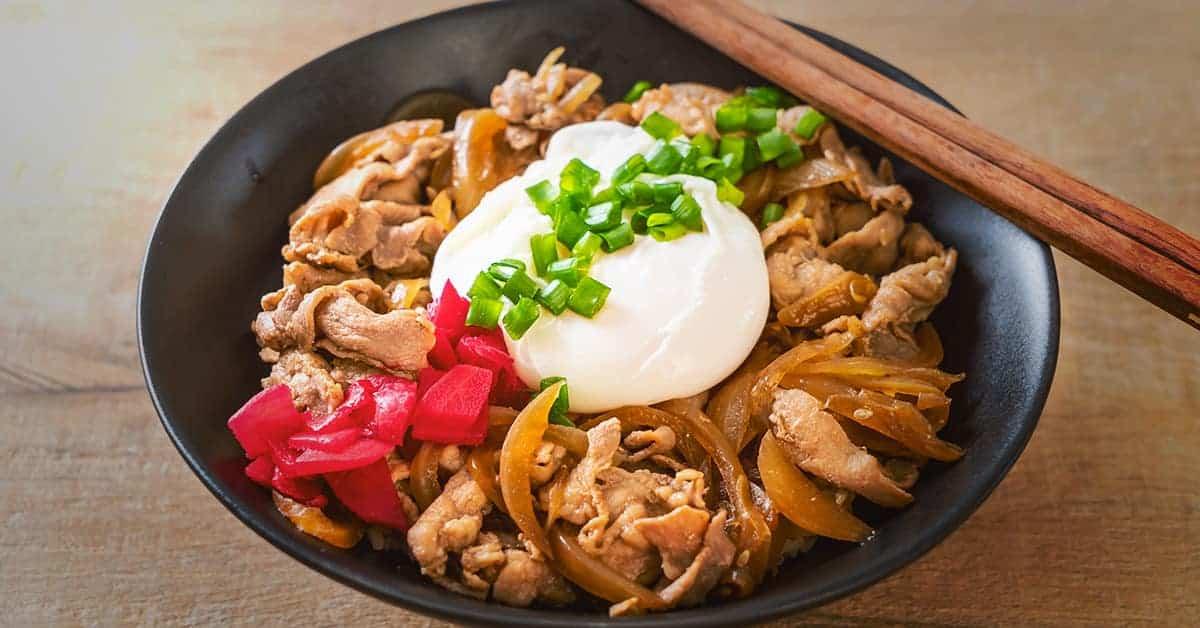 Donburi, japansk mad