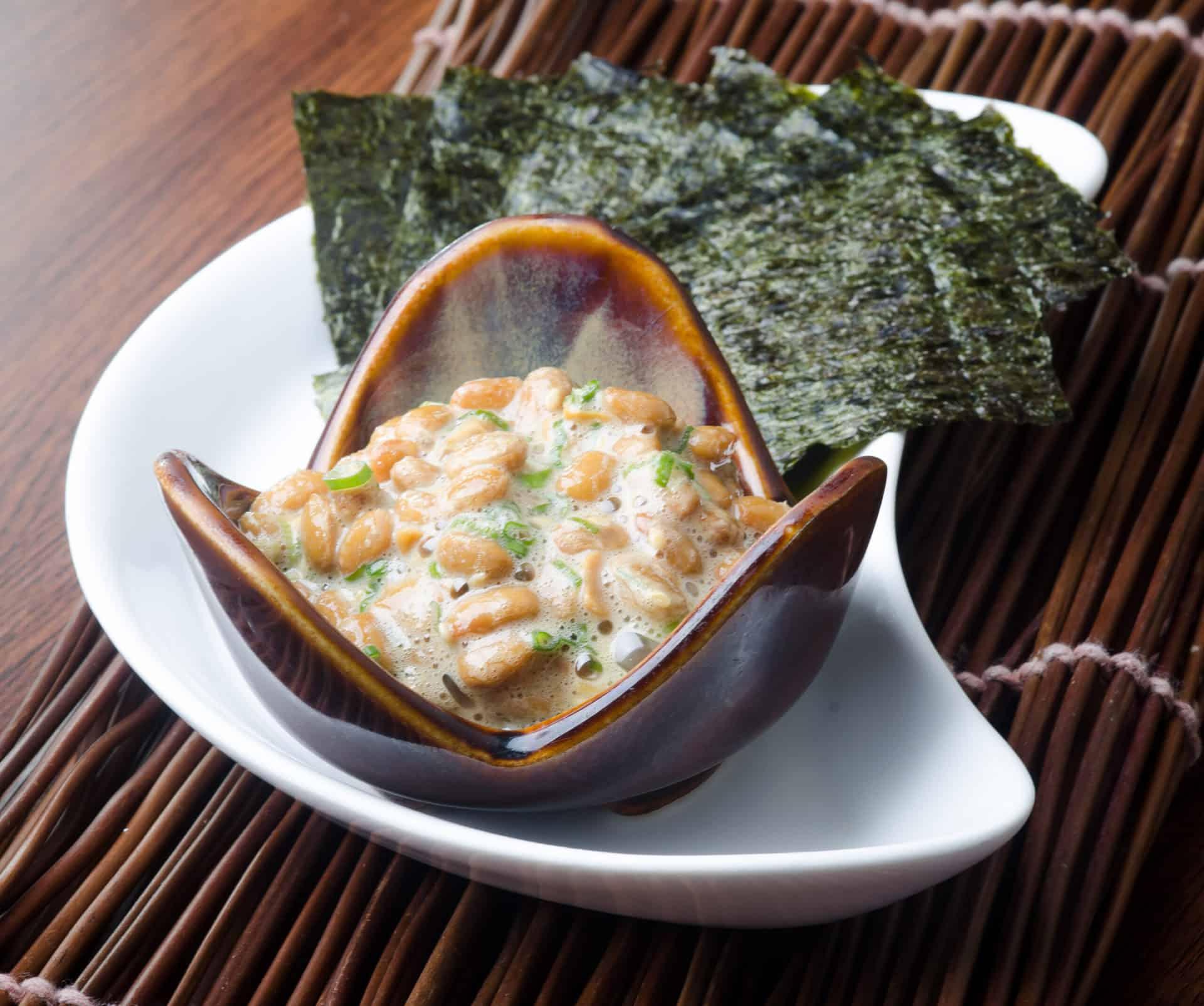 Natto japansk mad fermenterde bønner