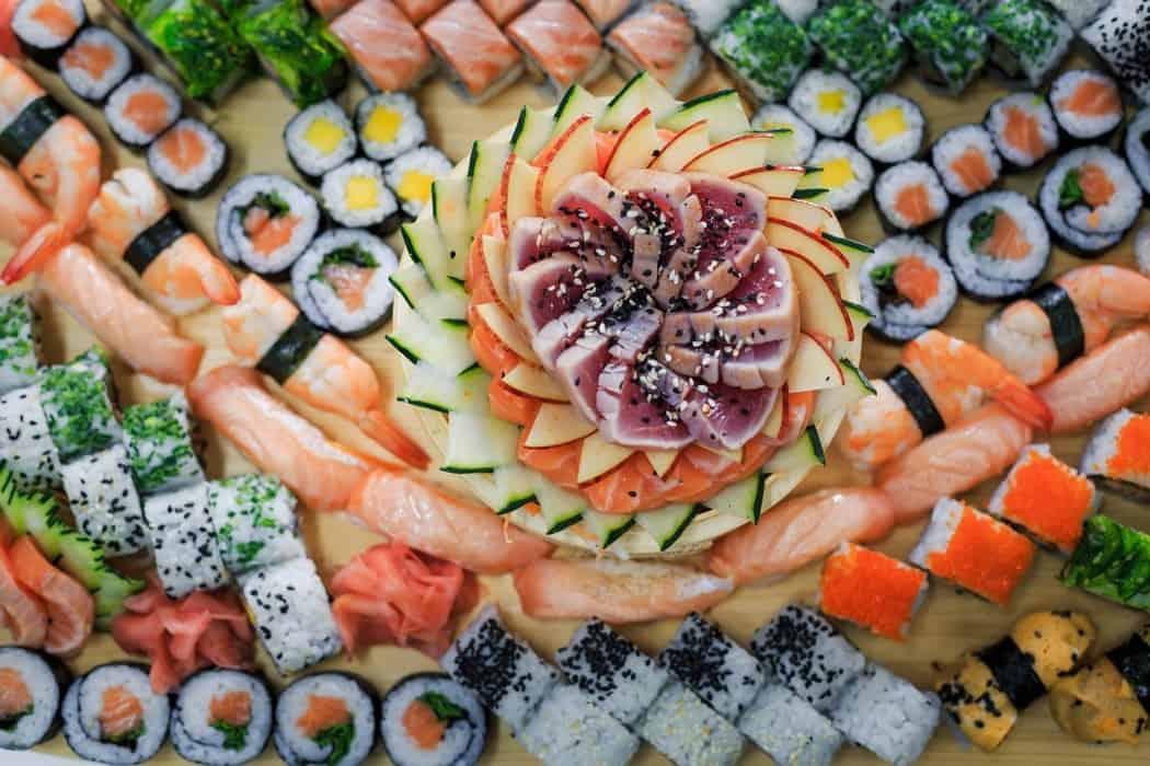 Sushi stort udvalg