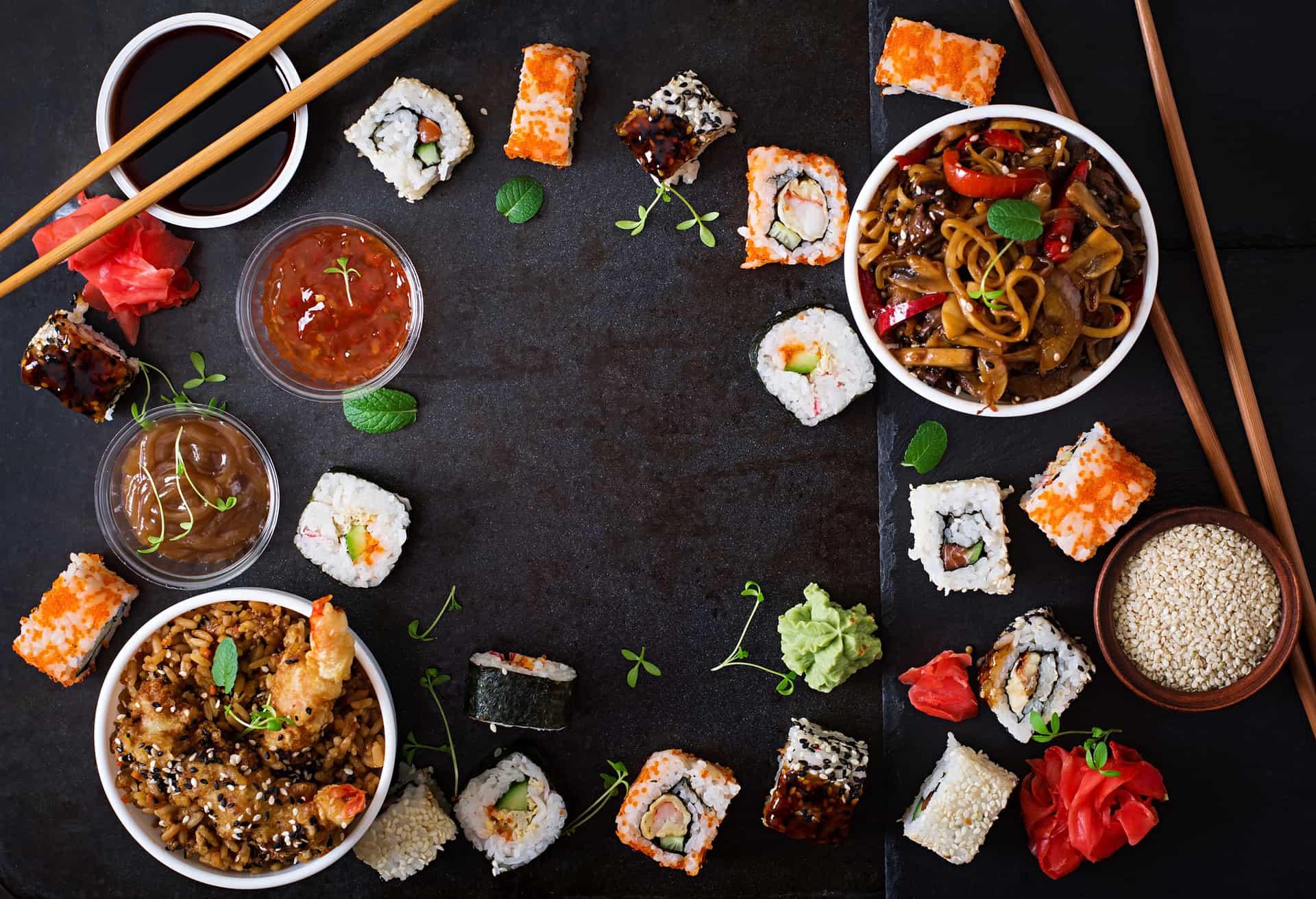 Japansk mad Traditionel fest sushi udvalg