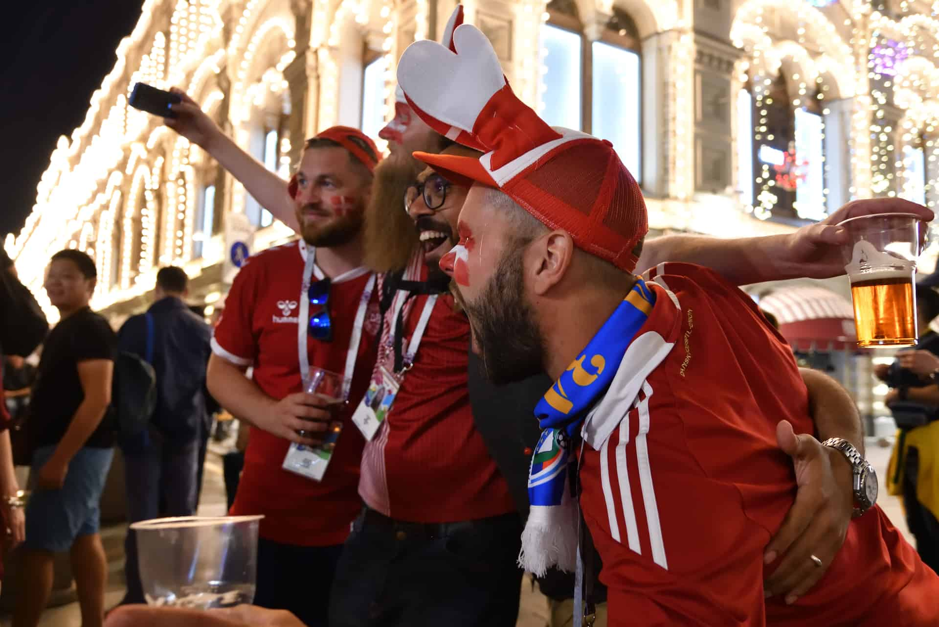 World Cup 2018, football fans on the streets of Moscow